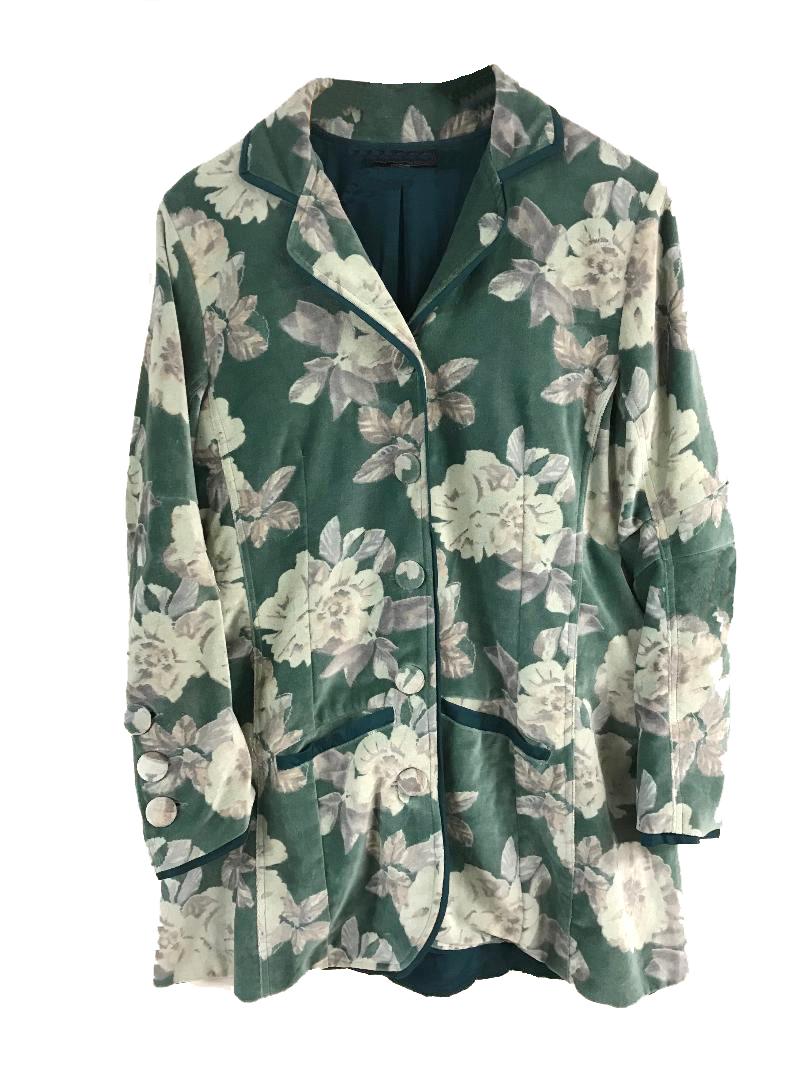 Stripes Jacket Floral Green copy