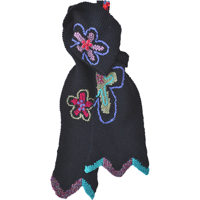 gogo-pima-cotton-knit-scarf-black