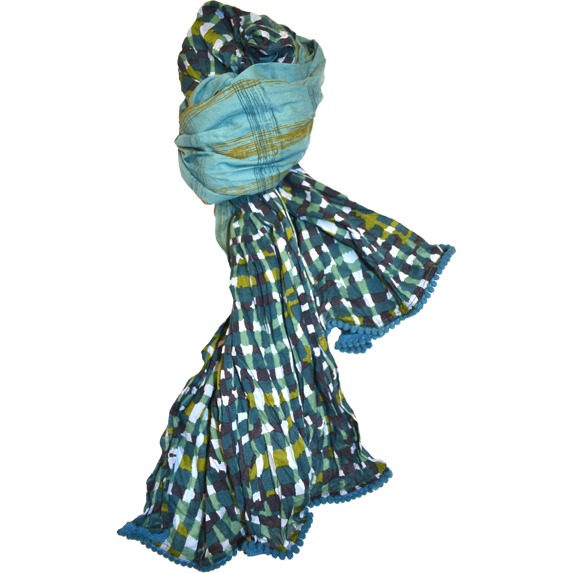 plaid-voile-scarf-green